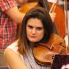 Daniel Pearl Memorial Viola recipient Hana Morford participating in the All Camp Orchestra. Photo by Richard Casamento.