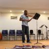Student Angelo Chery performing in student recital. Photo by Richard Casamento.
