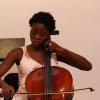 Cellist Taiwo came all the way from Nigeria to participate in the O'Connor Method Camp NYC. Photo by Richard Casamento.