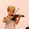 Student Fiona Blackburn playing the violin. Photo by Richard Casamento.